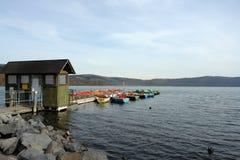 Barcos Rental no lago Imagem de Stock