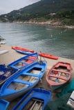 Barcos a S.Andrea - a Ilha de Elba Fotografia de Stock
