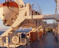 Barcos salva-vidas da balsa Foto de Stock Royalty Free