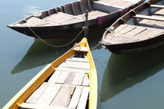 Barcos simples del árbol en Vietnam Foto de archivo