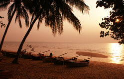 Barcos tailandeses tradicionais Fotografia de Stock