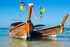 Barcos tailandeses tradicionales de la cola larga Imagen de archivo