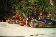 Barcos Tailandia de la cola larga Imágenes de archivo libres de regalías