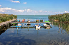 Barcos - Tihany Imagen de archivo libre de regalías