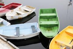 Barcos velhos coloridos Fotografia de Stock
