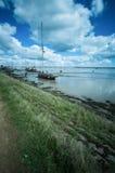 Barcos velhos na bacia de Heybridge imagens de stock