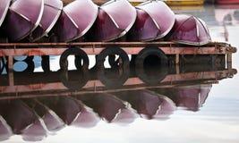 Barcos vermelhos foto de stock