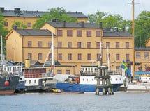 Barcos viejos en el puerto Imagen de archivo libre de regalías