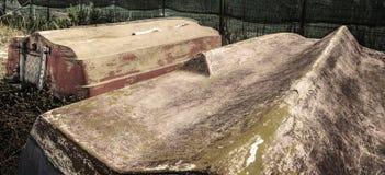 Barcos viejos volcados en hdr Fotografía de archivo libre de regalías