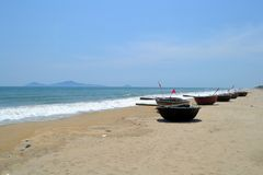 Barcos vietnamitas de la cesta imágenes de archivo libres de regalías