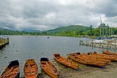 Barcos y windermere del lago Fotografía de archivo