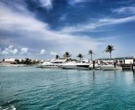 Barcos y yates del poder Foto de archivo libre de regalías