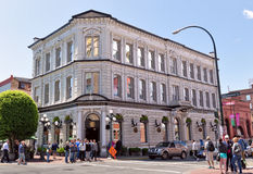 Bard & Banker Pub building, Victoria, BC, Canada. VICTORIA, BC - CIRCA MAY 2014 - Bard & Banker Pub building. Opened in 1862 as the Bank of British Columbia Stock Photo