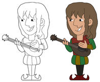 Bard cartoon Stock Photos
