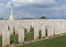 Bard Cottage Cemetery at Ypres, Flanders, Belgium - Landscape. Stock Photography