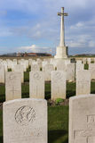 Bard Cottage Cemetery at Ypres, Flanders, Belgium - Portrait. Royalty Free Stock Photos