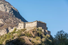 The Bard Fort in Aosta Valley Royalty Free Stock Image