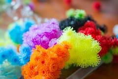 Bardana colorida de Velcro do desenhista do brinquedo imagem de stock royalty free