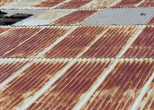 Bardeaux rouillés de toit Photo libre de droits