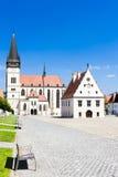 Bardejov Slovakien Fotografering för Bildbyråer