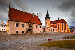 Bardejov, Slowakei stockbild