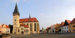 Bardejov - Unesco-stad - oude huizen Royalty-vrije Stock Afbeeldingen