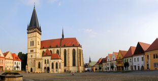Bardejov - unesco town - old houses royalty free stock images