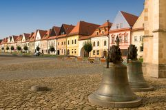 Bardejov - unesco town - panorama in morning Stock Photo