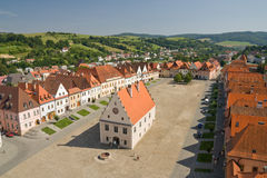 Bardejov - Unescostad royalty-vrije stock foto