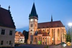 Bardejov - ville de l'UNESCO dans la nuit Image libre de droits