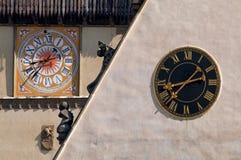 Bardejov zegary Zdjęcie Royalty Free