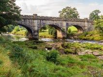 Barden bridge. Former aquaduct, at Bolton Abbey, Skipton, Yorkshire, UK Royalty Free Stock Photography