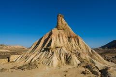 Bardenas desert. Castil de tierra, most famous landmark of Bardenas desert, in Spain Royalty Free Stock Image