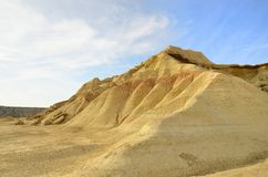 Bardenas hill Royalty Free Stock Image