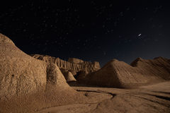 Bardenas night Royalty Free Stock Images