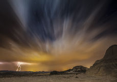 Bardenas night Royalty Free Stock Image