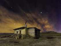 Bardenas night. Night shot of Navarre Real Bardenas Stock Image