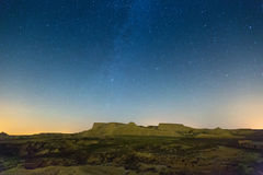 Bardenas reales natural park in  night Royalty Free Stock Image