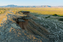 Bardenas reales natural park in summer morning Royalty Free Stock Photos