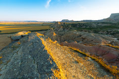 Bardenas reales natural park in summer morning Stock Image