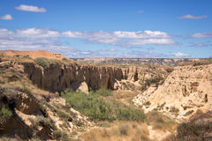 Bardenas Reales nature park, Navarra Royalty Free Stock Photography