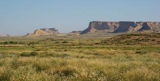 Bardenas Reales pustynia Hiszpania Zdjęcia Stock
