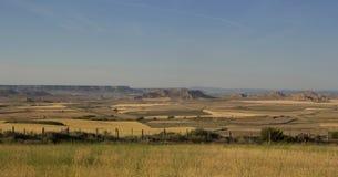Bardenas Reales, Spanien Lizenzfreies Stockfoto