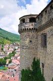 bardi城堡一点红・意大利romagna 库存图片