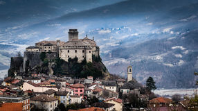 Bardi Castle. A view of the castle in the Italian town of Bardi -  Reggio Emilia Stock Images
