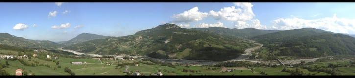 Bardi - vista panoramica di Parma Fotografie Stock