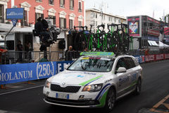 Bardiani team car Stock Photography