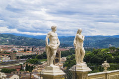 Bardini gardens. Close to Boboli gardens with good viewpoints Stock Photos