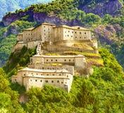 Bardo forte medievale famoso in tempo soleggiato fotografia stock libera da diritti