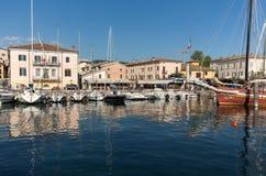 Bardolino attractive old town on the Veronese shore of Lake Garda.  Stock Photo